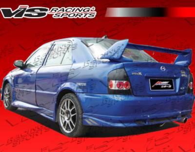 Protege - Rear Bumper - VIS Racing - Mazda Protege VIS Racing Cyber-1 Rear Lip - 01MZ3234DCY1-012