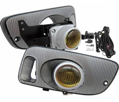 Headlights & Tail Lights - Fog Lights - 4 Car Option - Honda Civic HB 4 Car Option Fog Light Kit - Yellow - LHF-HC923YL
