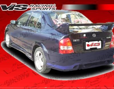 Protege - Rear Bumper - VIS Racing - Mazda Protege VIS Racing Fuzion Rear Bumper - 01MZ3234DFUZ-002