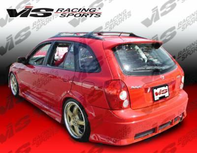 Protege - Rear Bumper - VIS Racing - Mazda Protege VIS Racing Spike Rear Bumper - 01MZ3235DSPK-002