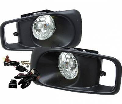 Headlights & Tail Lights - Fog Lights - 4 Car Option - Honda Civic 4 Car Option Fog Light Kit - Clear - LHF-HC99