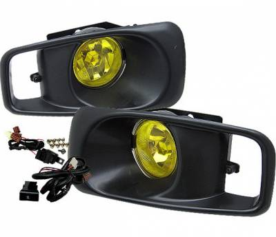 Headlights & Tail Lights - Fog Lights - 4 Car Option - Honda Civic 4 Car Option Fog Light Kit - Yellow - LHF-HC99-YL