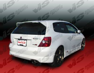 Civic HB - Rear Bumper - VIS Racing - Honda Civic HB VIS Racing Type R Rear Lip - 02HDCVCHBTYR-012