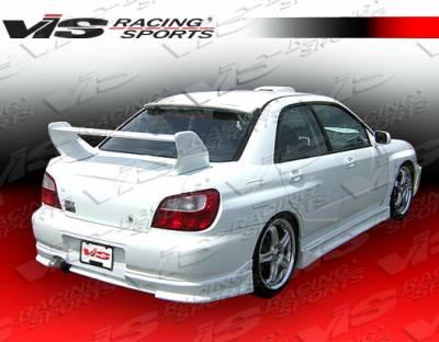 WRX - Rear Bumper - VIS Racing - Subaru WRX VIS Racing Tracer Rear Lip - 02SBWRX4DTRA-012
