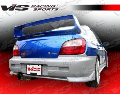 WRX - Rear Bumper - VIS Racing - Subaru WRX VIS Racing Tracer-2 Rear Bumper - 02SBWRX4DTRA2-002