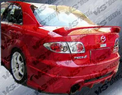 6 4Dr - Rear Bumper - VIS Racing - Mazda 6 VIS Racing Cyber Rear Bumper - 03MZ64DCY-002