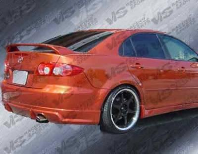 6 4Dr - Rear Bumper - VIS Racing - Mazda 6 VIS Racing Fuzion Rear Bumper - 03MZ64DFUZ-002