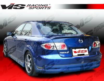 6 4Dr - Rear Bumper - VIS Racing - Mazda 6 VIS Racing Techno R Rear Lip - 03MZ64DTNR-012