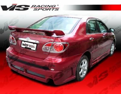 Corolla - Rear Bumper - VIS Racing - Toyota Corolla VIS Racing Fuzion Rear Bumper - 03TYCOR4DFUZ-002