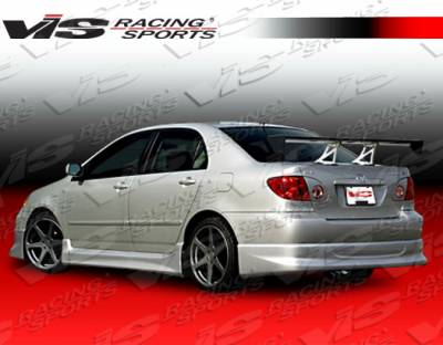 Corolla - Rear Bumper - VIS Racing. - Toyota Corolla VIS Racing Techno R-1 Rear Lip - 03TYCOR4DTNR1-012