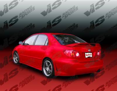 Corolla - Rear Bumper - VIS Racing - Toyota Corolla VIS Racing TSC-3 Rear Bumper - 03TYCOR4DTSC3-002