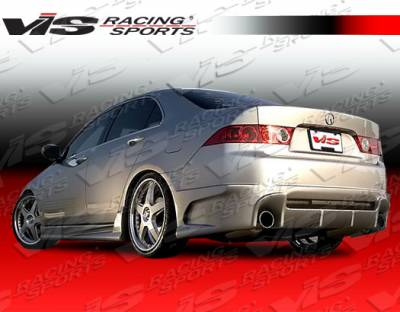TSX - Rear Bumper - VIS Racing - Acura TSX VIS Racing Laser Rear Bumper - 04ACTSX4DLS-002