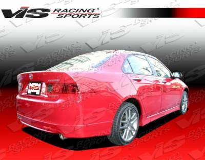 TSX - Rear Bumper - VIS Racing - Acura TSX VIS Racing Type R Rear Lip - 04ACTSX4DTYR-012