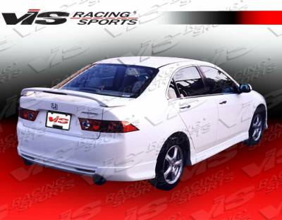 TSX - Rear Bumper - VIS Racing - Acura TSX VIS Racing Type R-2 Rear Lip - 04ACTSX4DTYR2-012
