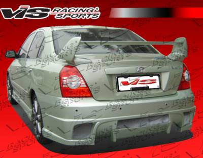 Elantra 4Dr - Rear Bumper - VIS Racing - Hyundai Elantra 4DR VIS Racing Cyber Rear Bumper - 04HYELA4DCY-002
