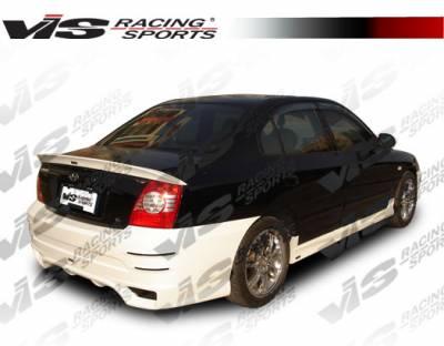 Elantra 4Dr - Rear Bumper - VIS Racing - Hyundai Elantra 4DR VIS Racing Fuzion Rear Bumper - 04HYELA4DFUZ-002