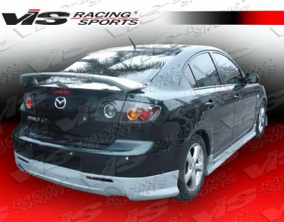3 4Dr - Rear Bumper - VIS Racing - Mazda 3 4DR VIS Racing Fuzion Rear Lip - 04MZ34DFUZ-012