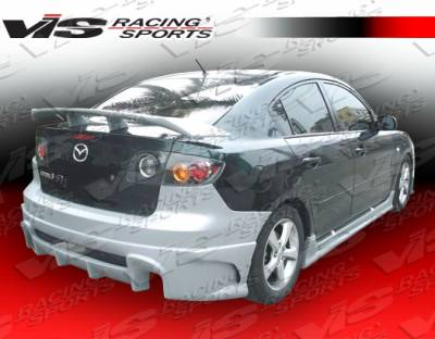 3 4Dr - Rear Bumper - VIS Racing - Mazda 3 4DR VIS Racing Laser Rear Bumper - 04MZ34DLS-002