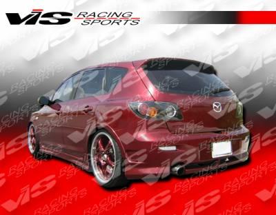 3 4Dr - Rear Bumper - VIS Racing - Mazda 3 4DR VIS Racing Magnum Rear Bumper - 04MZ34DMAG-002