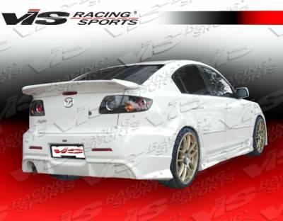 3 4Dr - Rear Bumper - VIS Racing - Mazda 3 4DR VIS Racing Wings Rear Bumper - 04MZ34DWIN-002