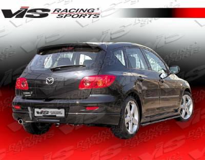 3 4Dr HB - Rear Bumper - VIS Racing - Mazda 3 4DR HB VIS Racing A Spec Rear Lip - 04MZ3HBASC-012
