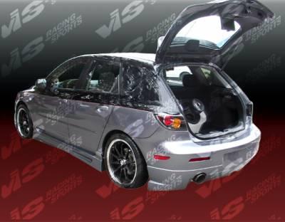 3 4Dr HB - Rear Bumper - VIS Racing - Mazda 3 4DR HB VIS Racing K Speed Rear Bumper - 04MZ3HBKSP-002