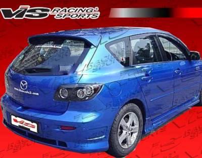 3 4Dr HB - Rear Bumper - VIS Racing - Mazda 3 4DR HB VIS Racing K Speed-2 Rear Bumper - 04MZ3HBKSP2-002