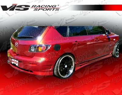 3 4Dr HB - Rear Bumper - VIS Racing - Mazda 3 4DR HB VIS Racing Viper Rear Bumper - 04MZ3HBVR-002