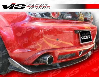 RX8 - Rear Bumper - VIS Racing - Mazda RX-8 VIS Racing A Spec Rear Lip - Carbon Fiber - 04MZRX82DASC-012C