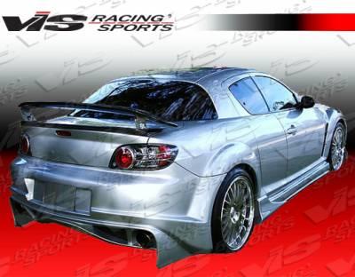 RX8 - Rear Bumper - VIS Racing - Mazda RX-8 VIS Racing Invader Rear Bumper - 04MZRX82DINV-002