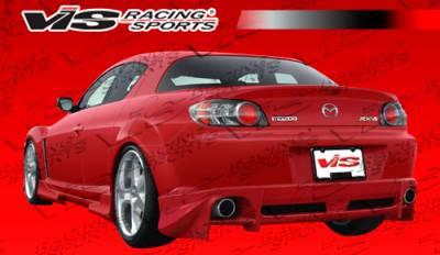 RX8 - Rear Bumper - VIS Racing - Mazda RX-8 VIS Racing Invader-2 Rear Lip - 04MZRX82DINV2-012P