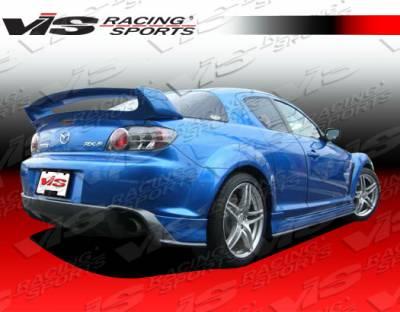 RX8 - Rear Bumper - VIS Racing - Mazda RX-8 VIS Racing Magnum Rear Bumper - Polyurethane - 04MZRX82DMAG-002P