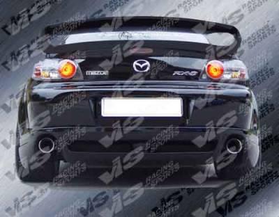 RX8 - Rear Bumper - VIS Racing - Mazda RX-8 VIS Racing Razor Rear Lip - 04MZRX82DRAZ-012