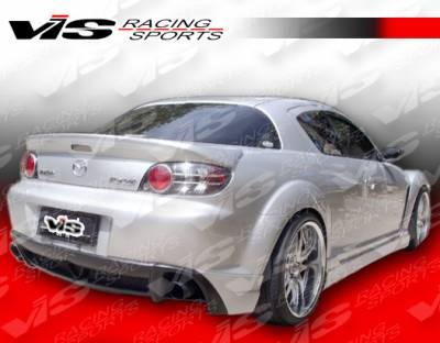 RX8 - Rear Bumper - VIS Racing - Mazda RX-8 VIS Racing Wings Rear Bumper - 04MZRX82DWIN-002