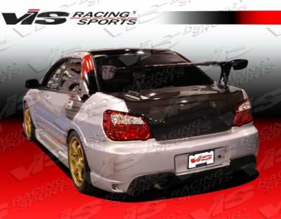 WRX - Rear Bumper - VIS Racing - Subaru WRX VIS Racing Wings Rear Bumper - 04SBWRX4DWIN-002