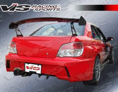 WRX - Rear Bumper - VIS Racing - Subaru WRX VIS Racing Zyclone Rear Bumper - 04SBWRX4DZYC-002