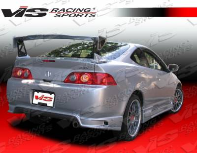 RSX - Rear Bumper - VIS Racing - Acura RSX VIS Racing Wings Rear Bumper - 05ACRSX2DWIN-002