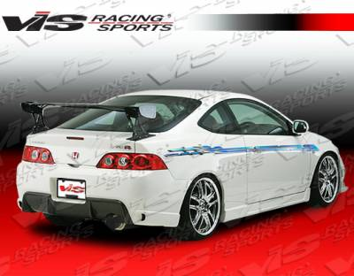 RSX - Rear Bumper - VIS Racing - Acura RSX VIS Racing Wings-2 Rear Bumper - 05ACRSX2DWIN2-002