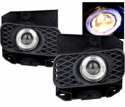 Headlights & Tail Lights - Fog Lights - 4 Car Option - Ford F150 4 Car Option Halo Projector Fog Light Kit - Smoke - LHFP-FF15099SM-WJ