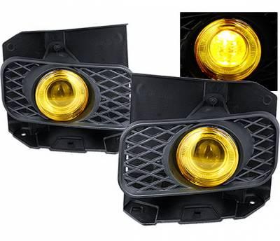 Headlights & Tail Lights - Fog Lights - 4 Car Option - Ford F150 4 Car Option Halo Projector Fog Light Kit - Yellow - LHFP-FF15099YL-WJ