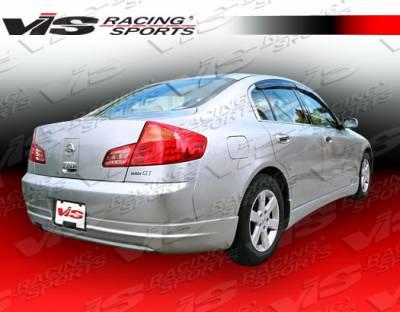 G35 4Dr - Rear Bumper - VIS Racing - Infiniti G35 4DR VIS Racing VIP Rear Lip - 05ING354DVIP-012