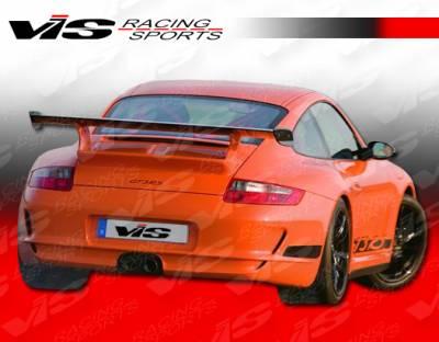 911 - Rear Bumper - VIS Racing - Porsche 911 VIS Racing D3 Rear Bumper with Center Exhaust - 05PS9972DD3-002