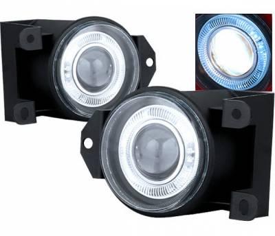 Headlights & Tail Lights - Fog Lights - 4 Car Option - GMC Yukon 4 Car Option Halo Projector Fog Light Kit - Clear - LHFP-GY00C-WJ