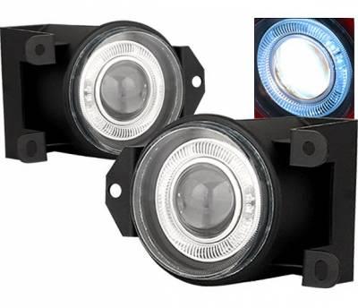 Headlights & Tail Lights - Fog Lights - 4 Car Option - GMC Yukon 4 Car Option Halo Projector Fog Light Kit - Smoke - LHFP-GY00SM-WJ