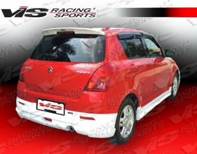 Swift - Rear Bumper - VIS Racing - Suzuki Swift VIS Racing A Tech Rear Lip - 05SZSWF4DATH-012