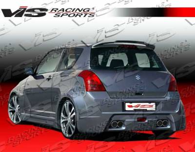 Swift - Rear Bumper - VIS Racing - Suzuki Swift VIS Racing Viper Rear Bumper - 05SZSWF4DVR-002
