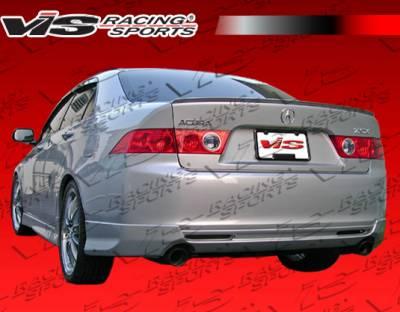 TSX - Rear Bumper - VIS Racing - Acura TSX VIS Racing Euro R Rear Lip - 06ACTSX4DEUR-012