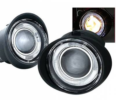 Headlights & Tail Lights - Fog Lights - 4 Car Option - Nissan Altima 4 Car Option Projector Fog Light Kit - Clear - LHFP-NA02C-WJ