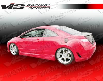 Civic 2Dr - Rear Bumper - VIS Racing - Honda Civic 2DR VIS Racing Touring Rear Bumper - 06HDCVC2DTOU-002