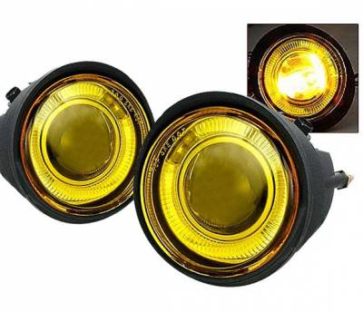 Headlights & Tail Lights - Fog Lights - 4 Car Option - Nissan Altima 4 Car Option Projector Fog Light Kit - Yellow - LHFP-NA02YL-WJ